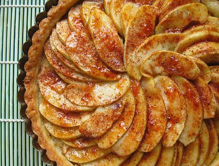 עוגת מניפת תפוחים