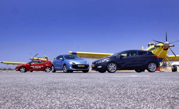 מכוניות קופה: פרו סיד, וולוסטר, מגאן קופה (צילום: נעם וינד)