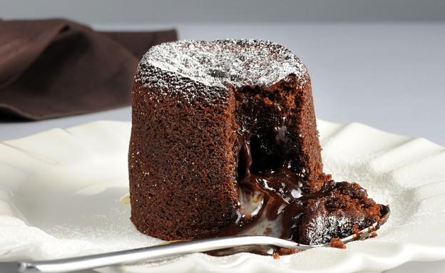 """פונדנט שוקולד, בוטיק סנטרל (צילום: חגית גורן  ,""""עוגות בוטיק"""", בוטיק סנטרל)"""