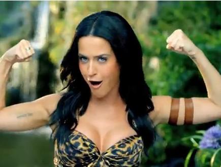 קייטי פרי בקליפ Roar (צילום: צילום מסך מתוך youtube)