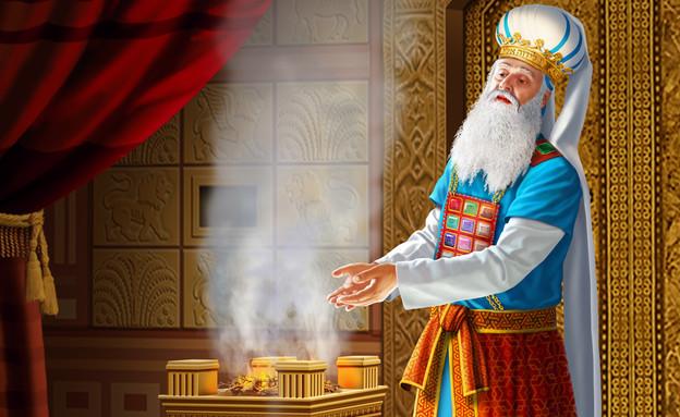 בית המקדש - הכהן הגדול (צילום: ציור וקסברגר)