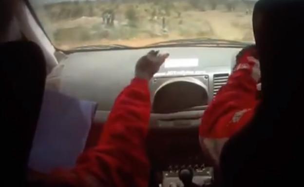 נהג הראלי הגרוע בעולם (צילום: יוטיוב )