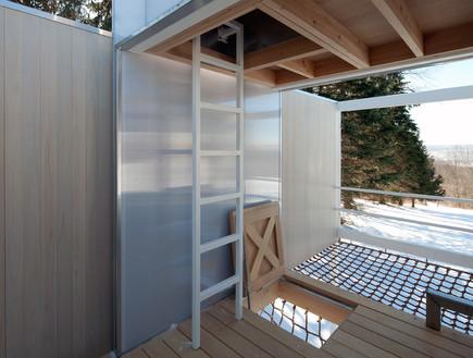 תחרות אדריכלים, בית עץ פנים, צילום Elizabeth Felicella