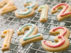 עוגיות בצורת מספרים