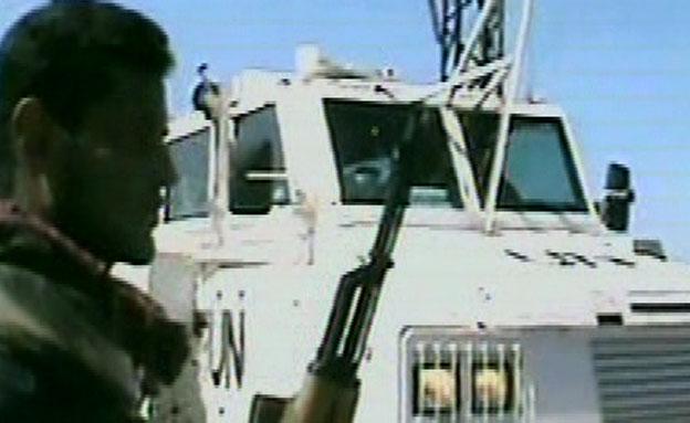 """פקחי האו""""ם בדמשק (צילום: חדשות 2)"""