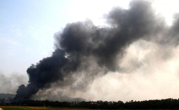 בפיצוץ במפעל בוייטנאם (צילום: רויטרס)