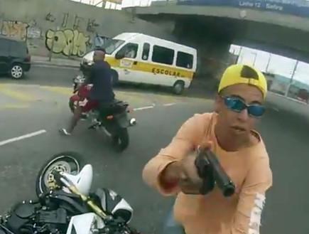 חטיפת אופנוע בצהרי היום
