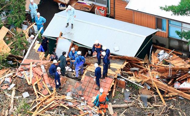 נזקים כבדים ביפן (צילום: רויטרס)