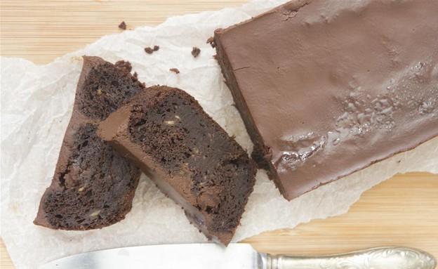 עוגת שוקולד ובננות טבעונית (צילום: נטלי לוין ,עוגיו.נט)