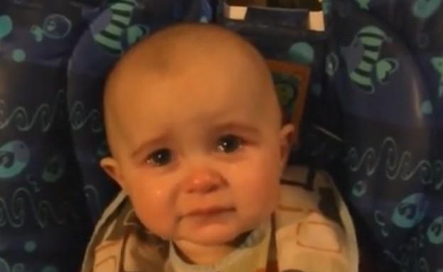 מארי לין - תינוקת נרגשת (צילום: יוטיוב  ,יוטיוב)