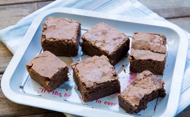 בראוניז שוקולד ונוגט (צילום: בני גם זו לטובה ,אוכל טוב)