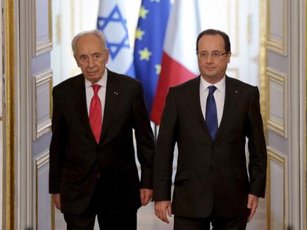 שמעון פרס עם פרנסואה הולנד (צילום: Reuters)