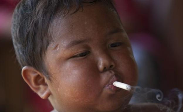 הפעוט שנגמל מסיגריות התמכר לאוכל (צילום: dailymail.co.uk)