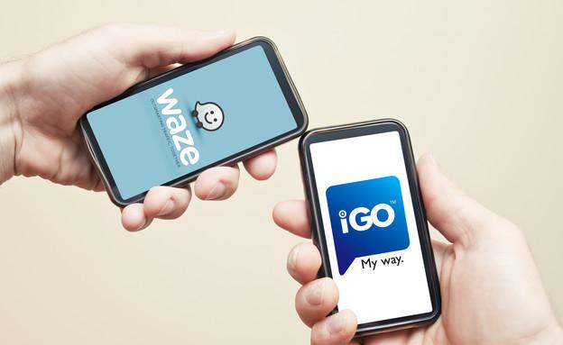 igo vs. waze (צילום: thinkstock)