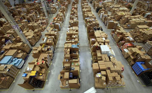 מחסני חברת אמזון בויילס, בריטניה (צילום: אימג'בנק/GettyImages ,getty images)