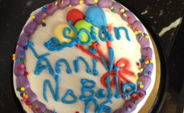 עוגה הומופובית ללסביות (צילום: צילום מסך מתוך advocate)
