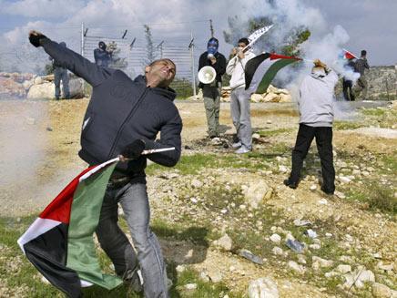 התפרעויות פלסטינים בשטחים, ארכיון (צילום: איי פי)