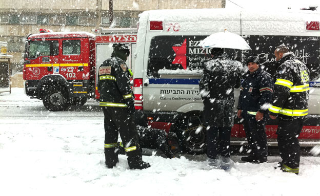 ההנחיות להתנהגות בסופה (צילום: אריק אבולוף, כבאות והצלה ירושלים)