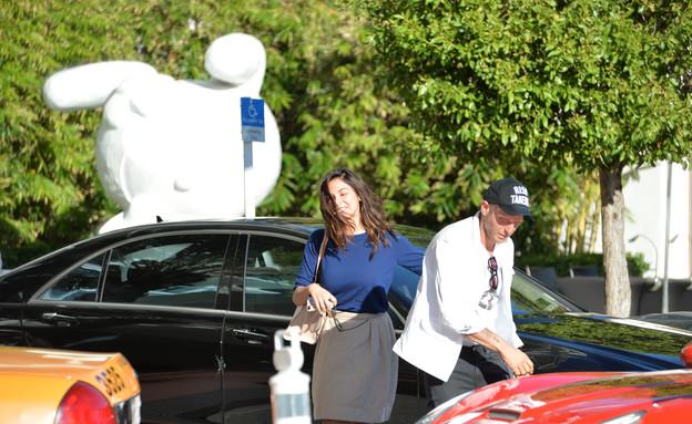 מורן אטיאס ולאפו אלקן  (צילום: splash news ,splash news)