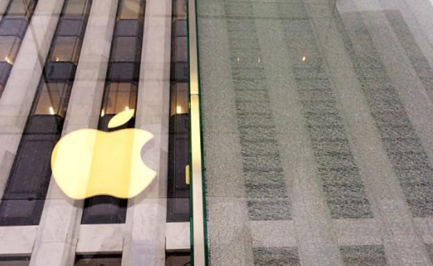 חלון מנופץ של חנות אפל (צילום: instagram)