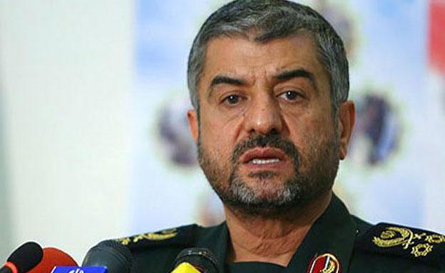 """מפקד משמרות המהפכה מאיים על ארה""""ב (צילום: חדשות 2)"""