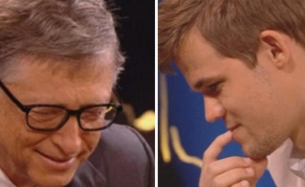 ביל גייטס מפסיד בשחמט (צילום: RTV)