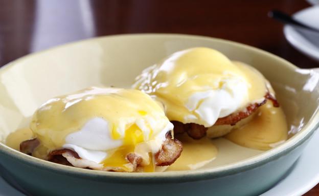 ביצה עלומה ורוטב הולנדייז, דיקסי (צילום: אפיק גבאי ,אוכל טוב)