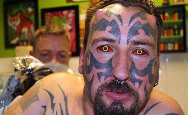 איש שטן (צילום: dailymail.co.uk)