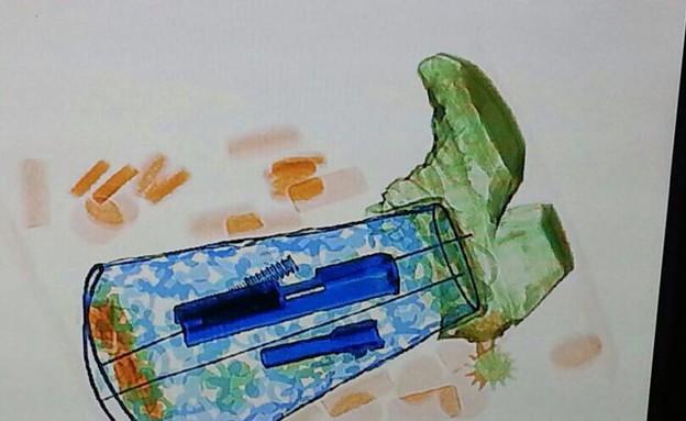 אקדח שנקנה בביטקוין מוברח במגף