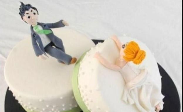 עוגות גירושים - כלה נופלת (צילום: pinterest.com ,צילום מסך)