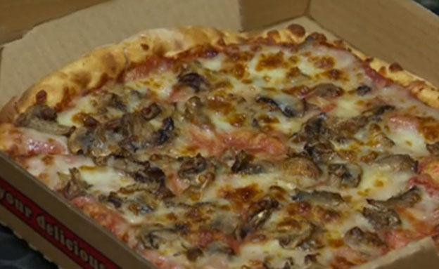 פיצה לא תמימה (צילום: צילום מסך)