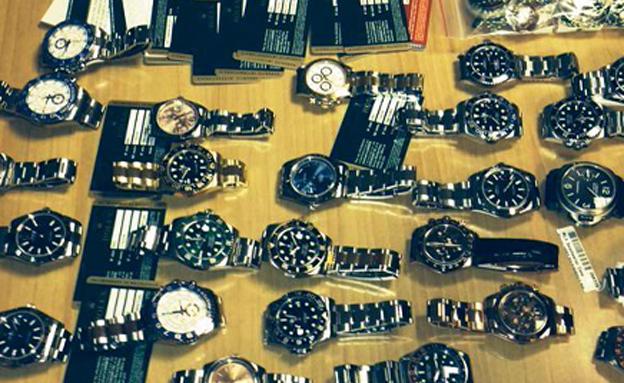 """השעונים במכס, היום (צילום: מכס נתב""""ג)"""