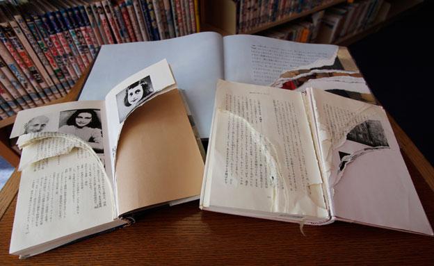 הספרים שהושחתו בחודש שעבר (צילום: AP)