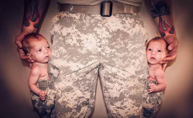 חיילים ותינוקות (צילום: facebook)