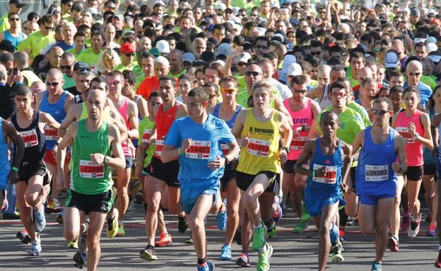 מרתון תל אביב 2014 (צילום: הדר כהן ,TheMarker)