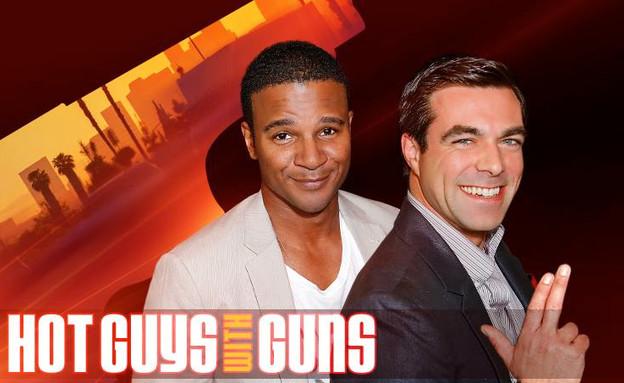 גברים חתיכים עם אקדחים