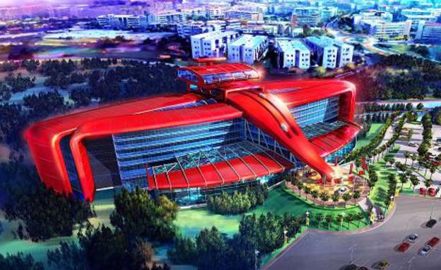 פארק חדש ומלון של פרארי (צילום: cnbc.com)