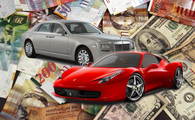 מכוניות יקרות במיליון אילוסטרציה