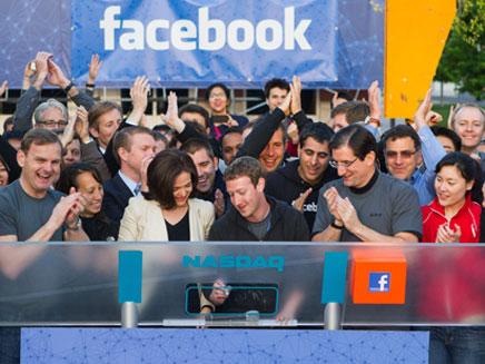הנפקת פייסבוק בפברואר 2012: מגמת עלייה מ (צילום: AP)