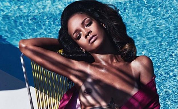 ריהאנה בעירום (צילום: מתוך מגזין לואי)