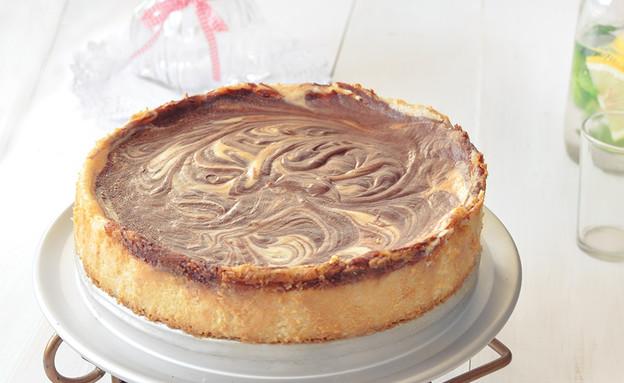 עוגת גבינה ושוקולד טבעונית (צילום: נופר יערי ,לא על החסה לבדה)