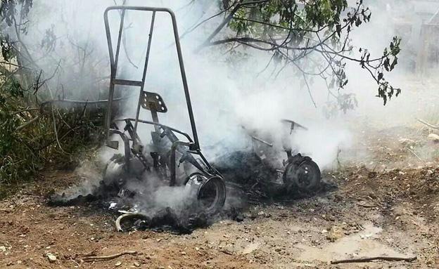 הטרקטורון השרוף