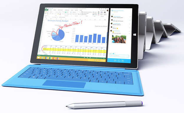 טאבלט ה-Surface Pro 3 של מיקרוסופט (צילום: מיקרוסופט ,מיקרוסופט)