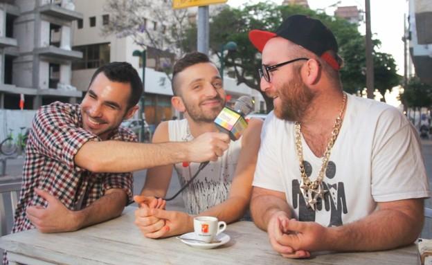 לאון שניידרובסקי ויואב מאיר עם עידן מטלון (תמונת AVI: צילום מסך ,צילום מסך)
