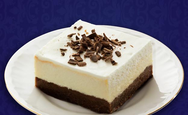 עוגת מסקרפונה ובראוניז (צילום: דן לב, גד ,מחלבות גד)