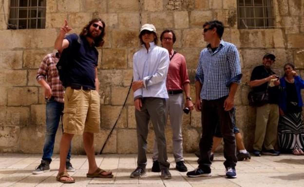 מיק ג'אגר בירושלים (צילום: twitter)