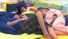 מרטין לינור ומיקי במיטה (צילום: מתוך האח הגדול ,mako)