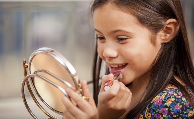 ילדה קוסמטיקה (צילום: thinkstock ,thinkstock)