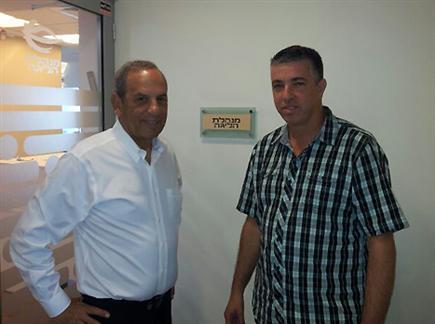 רמי כהן ושמואל פרנקל הבוקר בכניסה לישיבה