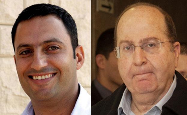 משה יעלון ואלון דוידי (צילום: אוהד צויגנברג, פלאש 90, Edi Israel/Flash90)
